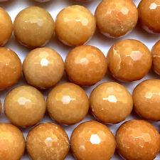 Aventurine 20mm Peach Faceted Round Semi Precious Stone Beads Q10 Beads per Pkg