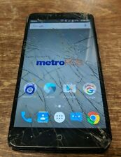 CRACKED GLASS AS IS ZTE ZMAX Z970 16GB Black MetroPCS Smartphone