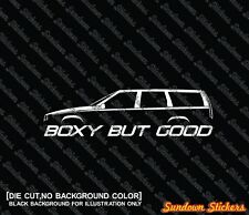 2X BOXY BUT GOOD funny car silhouette stickers - for Volvo 850 wagon T5 R turbo