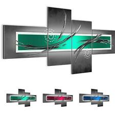 Wandbilder Set 3D Abstrakt - Wohnzimmer XXL Deko - Bild Modern Kunstdruck