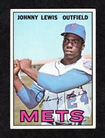 1967 Topps #91 Johnny Lewis New York Mets Vintage Baseball Card VG/EX