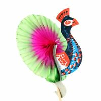 50pcs Peacock Paper Cocktail Picks Colored Copy Paper and Wood Fruit Cake Sticks