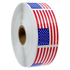 """High Quality Gloss Stock 500 American Flag Stickers (Perforated), 2.125"""" x 1.25"""""""