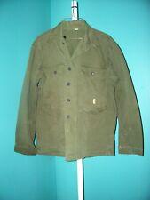 WW II HBT 13 STAR BUTTON HARRINGBONE SHIRT / JACKET SZ. 36 REG. CHEST 46