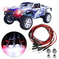 4 LED Light Kit 2 White 2 Red for 1/10 1/8 Traxxas HSP Redcat RC Car Truck