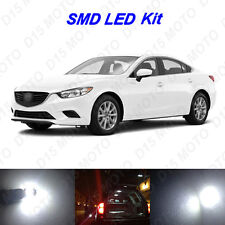 10 x White LED interior Bulbs + License Plate Lights for 2014-2017 Mazda 6