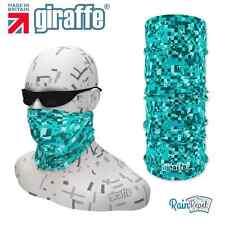 G377 Blue Pixels Headgear Neckwarmer multifunctional Bandana Headband Giraffe