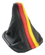 Italian Leather SHIFT BOOT Gaiter German Flag for VW Golf Jetta GTi GLi MK3