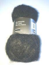 10 Pelotes  de laine  mohair noires   trés douces  / Fabriqué en FRANCE
