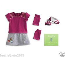 American Girl MYAG Fresh & Fun Outfit + Charm Brand NEW in AG Box