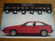 ISUZU PIAZZA TURBO brochure jm