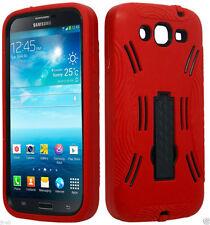 eRed/Black Dual Hybrid Kickstand Samsung Galaxy Mega 5.8 GT-I9152/I9150 Case