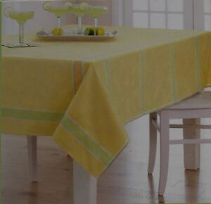 Celebrate Spring Yellow Butterfly Critter Jacquard 60x102 Oblong Tablecloth NWT