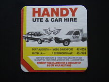 HANDY UTE & CAR HIRE PORT AUGUSTA 424255 WHYALLA 1 BEERWORTH AVE 457924 COASTER
