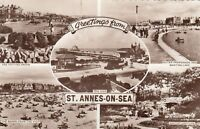 Postcard - St. Annes-on-Sea - Greetings from St Annes-on-Sea - 5 Views
