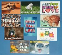 Set of 10 NEW Sentiments Postcards great for, Postcrossing & Postcardsofkindness