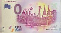 BILLET 0  EURO  KOLNER ZOO ALLEMAGNE  2017  NUMERO 100