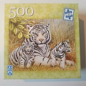 FX Schmid White Tigers Puzzle 500 Pieces All Pieces Included