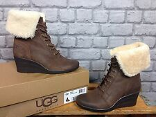 UGG AUSTRALIA UK 5.5 LADIES CHOCOLATE BROWN SUEDE ZEA BOOT RRP £130