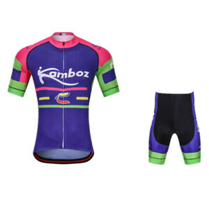 Outdoor Sports Short Sleeve Cycling Jersey Shorts Full Zip Clothes Quck Dry #35