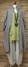 "LAGENLOOK OVERSIZED 3 PCS JACKET+TOP+TROUSERS*BEIGE/OLIVE**BUST UP TO 54"" XL-XXL"
