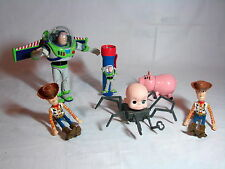 Lot of Disney Pixar Thinkway Toy Story 2 Action Figures Includes Talking Buzz