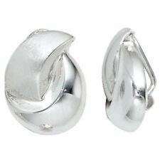 Ohrschmuck ohne Steine aus Sterlingsilber mit echtem Edelmetall Clips