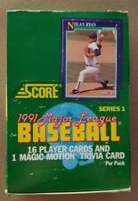 NEW Sealed Packs 1991 Score Series One 1 I MLB Baseball Cards Box 36 Packs