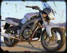 CAGIVA River 500 1 A4 Metal Sign moto antigua añejada De