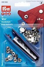 BOTTONI a PRESSIONE MINI 8mm PRYM Argento automatici leggeri silver 390360