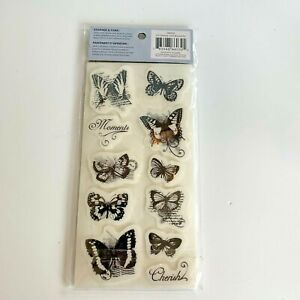 NEW Cloud 9 Design Butterfly Stamp Set C9 4 X 8 Unmounted Rubber CR1