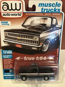 Auto World   1981 Chevrolet Silverado 10 pickup black & silver