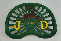Vintage John Deere JD Cast Iron Tractor Seat Part Low Pan 1847 6 Antlers 4 Legs