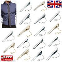 Smart Stylish Men's Boy's Skinny Gold Silver Tie Bar Clips Clasps Pins 30 Styles