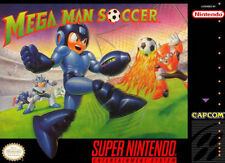 MEGA MAN SOCCER SNES SUPER NINTENDO GAME COSMETIC WEAR