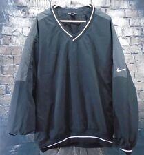 Nike Golf Mens Black Vented Pullover Windbreaker Jacket Large