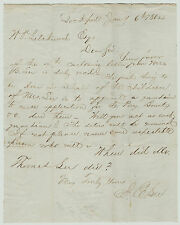 - Letter to  William Pryor Letchworth  1864  from J E Lee  Lockport NY