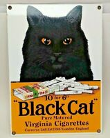 "BLACK CAT - 13"" x 9"" - VIRGINIA CIGARETTES METAL SIGN"
