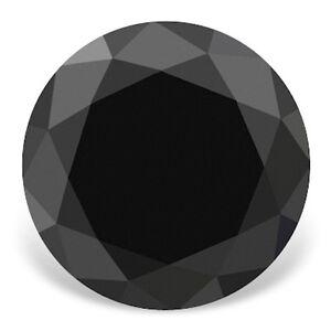 Echter Schwarzer Diamant mit Brilliantschliff 1.17ct 6.2mm