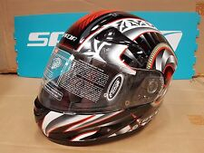 SPADA RP700 SERPENT BLACK RED MOTORCYCLE HELMET X-SMALL 056817 F41