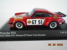 1/43 Porsche 934, 2nd ADAC 300k 1976, Euro GT Champ, Hezemans, GELO, Minichamps.