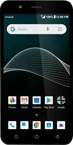 Cricket Vision |Android Smartphone | Cricket Wireless Prepaid | Black | New