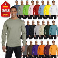 Hanes Mens Long Sleeve T-Shirt 100% Cotton Beefy-T Heavy 6.1 oz BIG 2X-3XL 5186