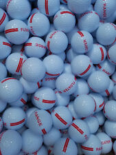 46 NEW Floating Golf Balls - Floaters Float! White with red stripes