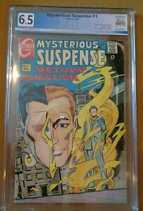 MYSTERIOUS SUSPENSE #1 - PGX 6.5 - RETURN OF THE QUESTION BY DITKO - 501408898