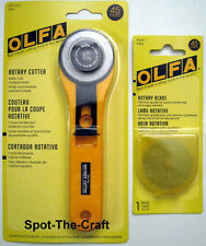 OLFA ~ 45mm Rotary Cutter ~ With A Bonus Extra Blade ~ NIP