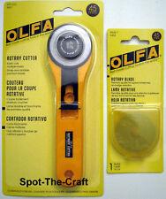 OLFA ~ 45 mm Rotary Cutter ~ Bonus Extra Blade ~ RTY-2/G   #9651 ~ BrandNEW