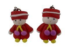Ohrringe Ohrhänger Hänger handgemacht Junge Anzug Puppe Puppenstube Winter 8620