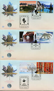 United Nations UN 2017 FDC World Environment Day 6v Set on 3 Covers Trees Stamps
