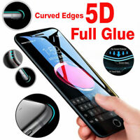 New 5D Gorilla Tempered Glass Screen Protector For Apple iPhone 6,7,8 Plus X,10